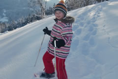 Winter hiking and snow-shoe hiking
